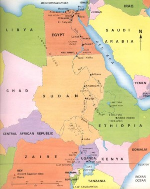 River Nile Map