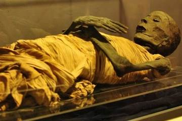 Mummies at Egyptian Museum